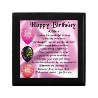 Niece Poem - Happy Birthday Jewelry Box