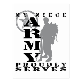Niece Proudly Serves - ARMY Postcard