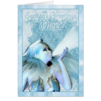 Niece Season's Greeting, The Frost Maiden Card