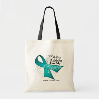 Niece - Teal Ribbon Awareness Canvas Bag