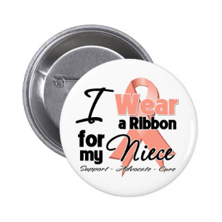 Niece - Uterine Cancer Ribbon Button