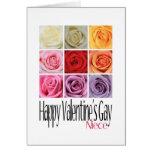 Niece Valentine's Gay, Rainbow Roses Cards
