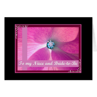 NIECE - Wedding Congratulations Greeting Card