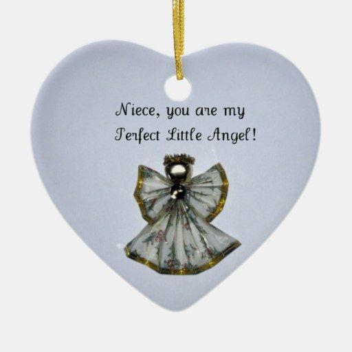 Niece, you are my .... Double-Sided heart ceramic christmas ornament