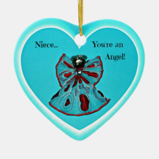Niece, you're an Angel! Ceramic Ornament