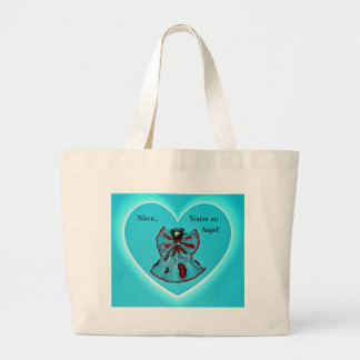 Niece, you're an Angel! Large Tote Bag