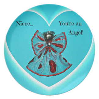 Niece, you're an Angel! Melamine Plate