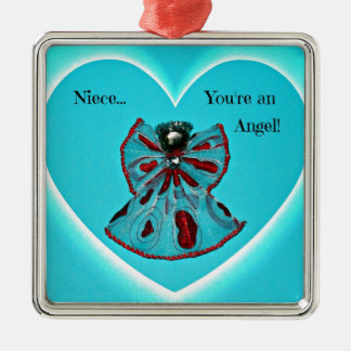 Niece, you're an Angel! Metal Ornament