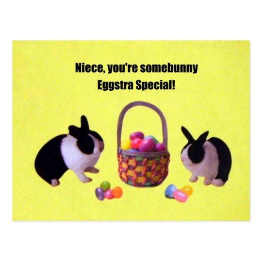 Niece, You're somebunny eggstra special! Postcard