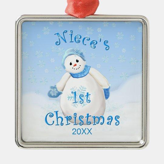 Niece's 1st Christmas Snowman Ornament