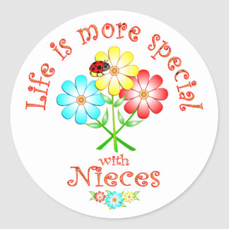 Nieces are Special Classic Round Sticker