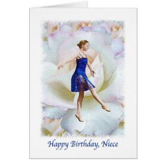Niece's Birthday Card with Ballet Dancer