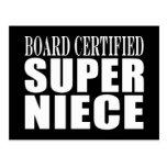 Nieces Birthday Party Board Certified Super Niece Postcard