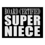 Nieces Birthday Party Board Certified Super Niece Posters