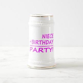 Nieces Birthdays : Niece + Birthday = Party Beer Stein
