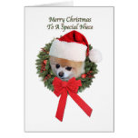 Niece's Pomeranian Dog Christmas Card