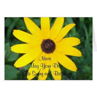 Niece's Sunny Birthday Black Eyed Susan Card