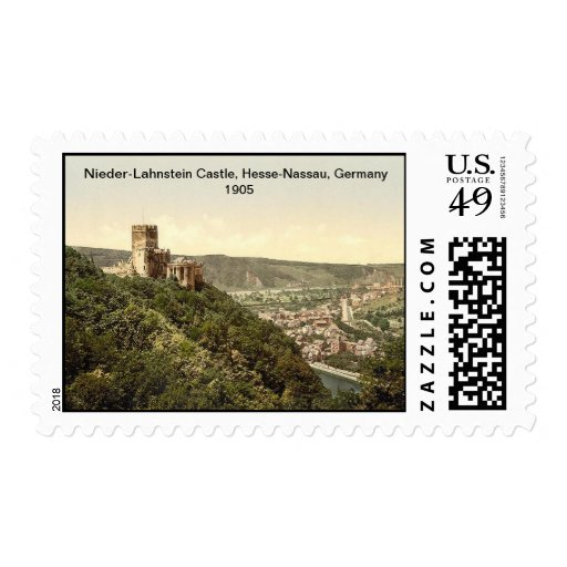 Nieder-Lahnstein Castle, Hesse-Nassau, Germany Postage Stamp