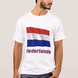 Niederlande Fliegende Flagge mit Namen T-Shirt