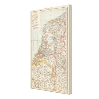 Niederlande - Netherlands Map Canvas Print
