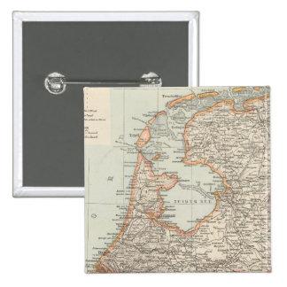 Niederlande - Netherlands Map Pinback Button