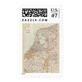 Niederlande - Netherlands Map Postage