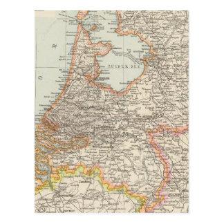Niederlande - Netherlands Map Postcard