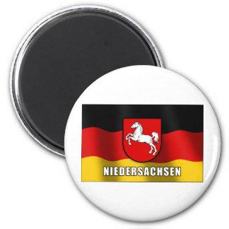 Niedersachsen coat of arms 2 inch round magnet
