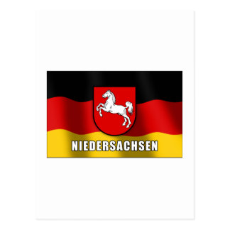 Niedersachsen coat of arms post card
