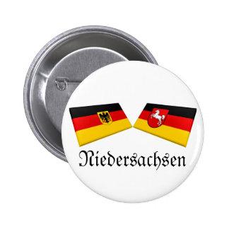 Niedersachsen, Germany Flag Tiles Pin