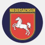 Niedersachsen (Lower Saxony) COA Round Sticker