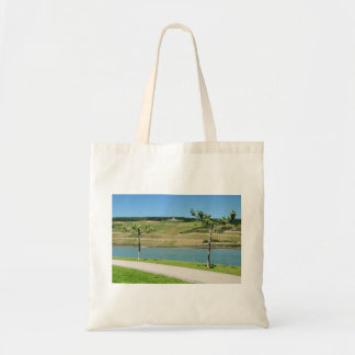Niederwalddenkmal with coarse home on the Rhine Tote Bag