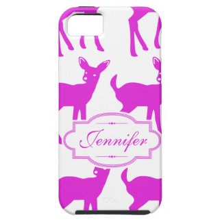 Niedliches Rotwild-heißes Rosa-Kitz-Muster u. Name iPhone 5 Cover