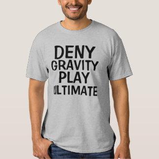 Niegue a juego de la gravedad la última camiseta playeras