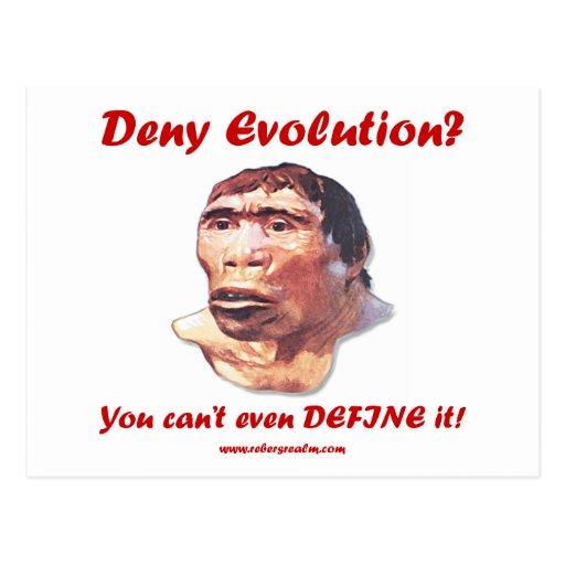 ¿Niegue la evolución? Postales