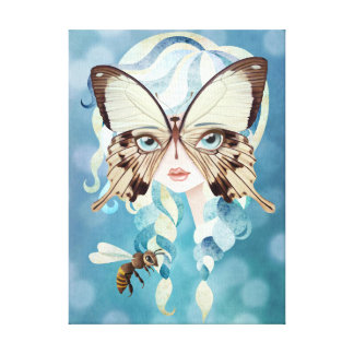 Niella Butterfly Fairy Wrapped Canvas Print Stretched Canvas Prints