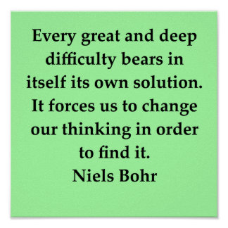 niels bohr quote poster