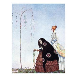 Nielsen en polvo y crinolina tarjeta postal