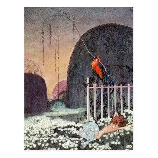Nielsen en polvo y crinolina postales