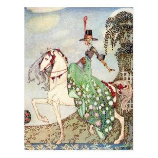 Nielsen en polvo y crinolina tarjetas postales
