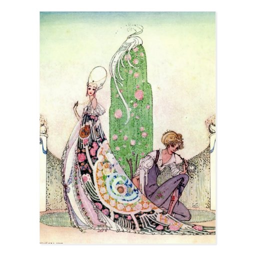 Nielsen's In Powder and Crinoline Postcard