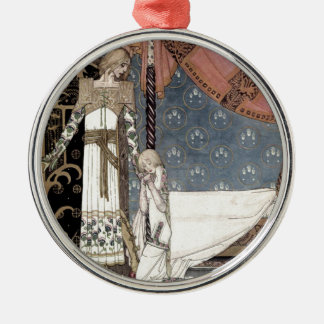 "Nielson Fantasy Art ""Tell Me..."" Metal Ornament"