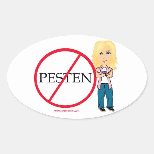 Niet Pesten Oval Sticker
