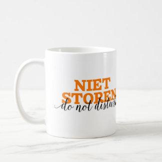 Niet Storen/no perturba vocabulario holandés de la Taza Clásica