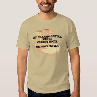 Nieta del bcd del abuelo de la fuerza aérea camisas