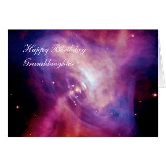 Nieta del cumpleaños - lapso de tiempo del pulsar tarjeta de felicitación