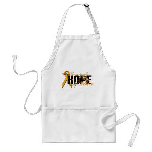 Nieta mi héroe - esperanza de la leucemia delantal
