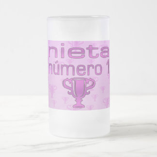 Nieta  Número 1 Frosted Glass Beer Mug