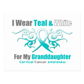 Nieta tribal de la cinta del cáncer de cuello del tarjetas postales