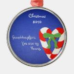 Nieta, usted es mi corazón ornaments para arbol de navidad